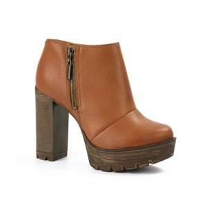 Ankle Tanara Boot Couro Caramelo
