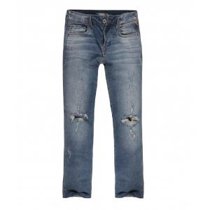 Calça Jeans Feminina Destroyed Cropped