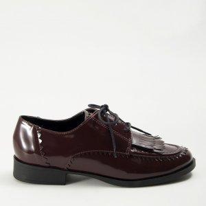 Sapato Oxford Franjas Box Vinho Tamanho: 39 - Cor: Vinho