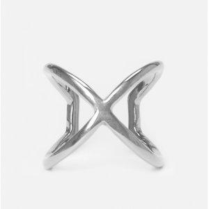 Anel Em X Metal
