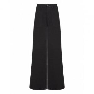 Calça Jeans Wide Bolso Detalhe