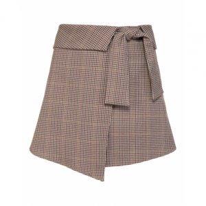 Shorts Saia Estampado Com Amarração