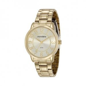 Relógio Feminino Dourado Clássico