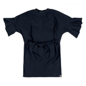 Vestido Alfaiataria Em Tecido Crepe Com Amarração Frontal