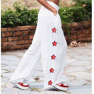 Calça Pantalona Stras Tamanho: P - Cor: Branco