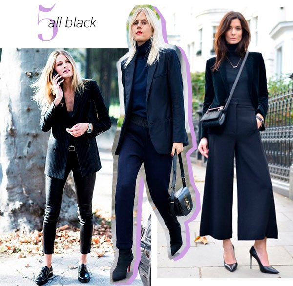 all black - conjunto - look - trend - como usar