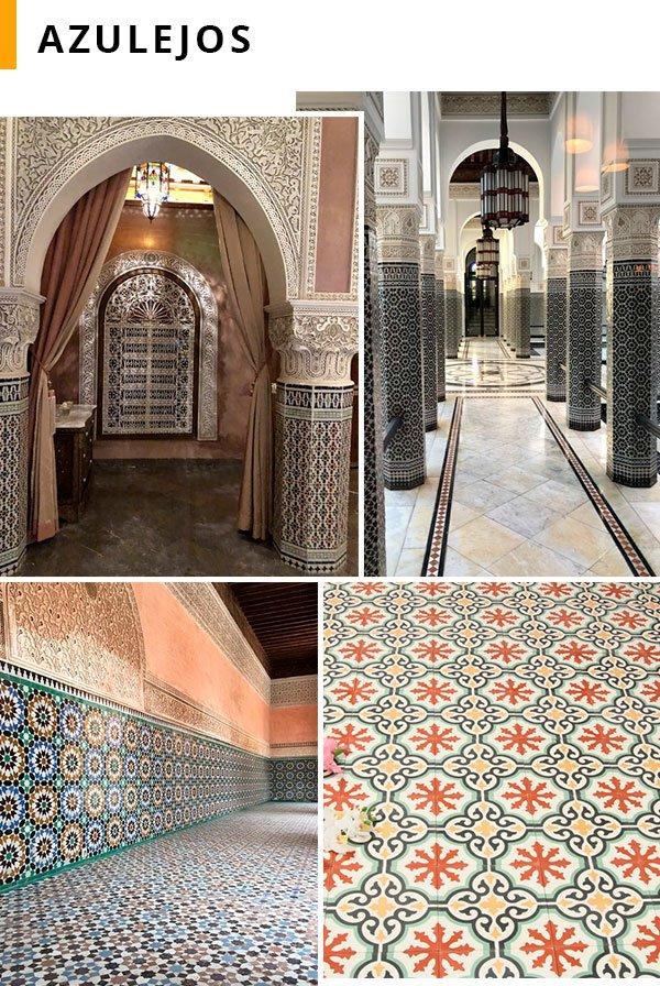 marrakesh - azulejos - decor - lugares - viagem