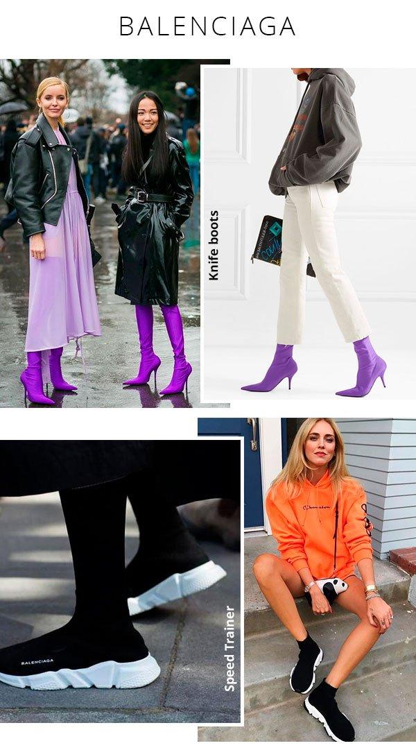 balenciaga - look - boots - sneakers - tendencia