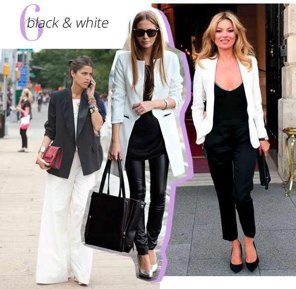 black - white - blazer - look - trend