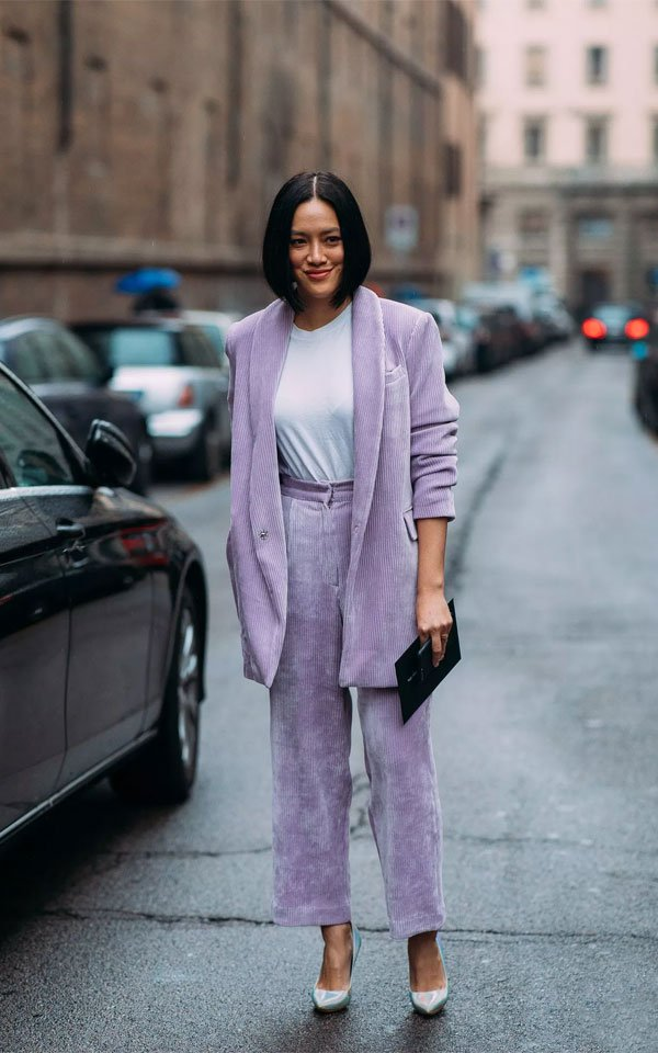 it girl - blazer-lilas-camiseta-branca - candy color - inverno - street style