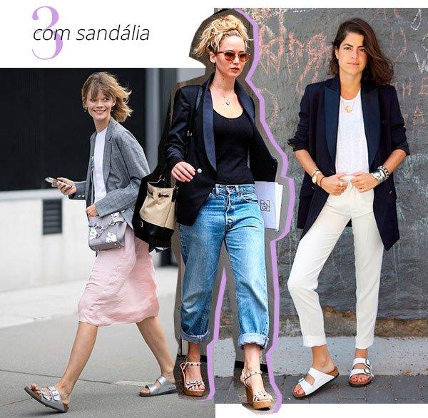 blazer - sandalia - look - trend  - como usar