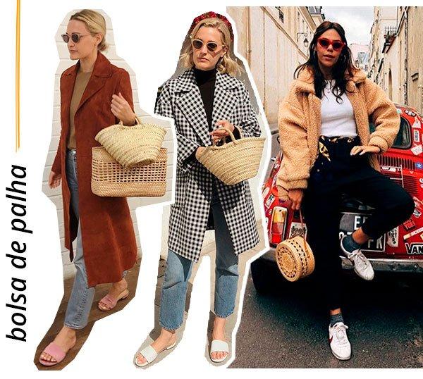 bolsa - palha - looks - como usar - trend