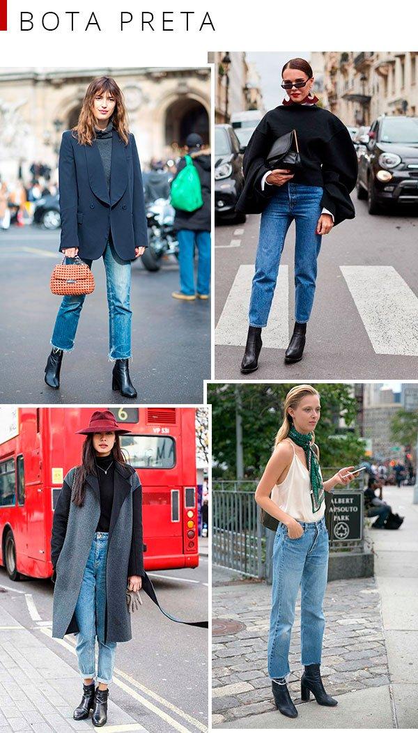 bota - preta - looks - minimal - como usar