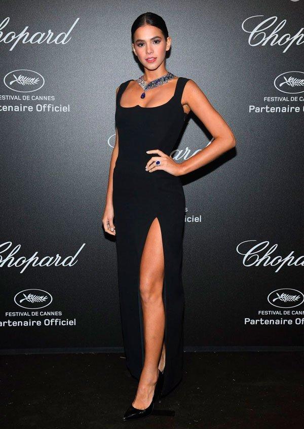 Bruna Marquezine veste Chopard  - vestido-preto - vestido-preto - verão - Festival de Cannes 2018