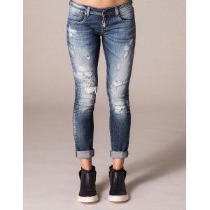 Calça Jeans Feminina Skinny Super Destroyed