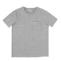 Camiseta Masculina Básica Em Malha De Algodão Com Bolso
