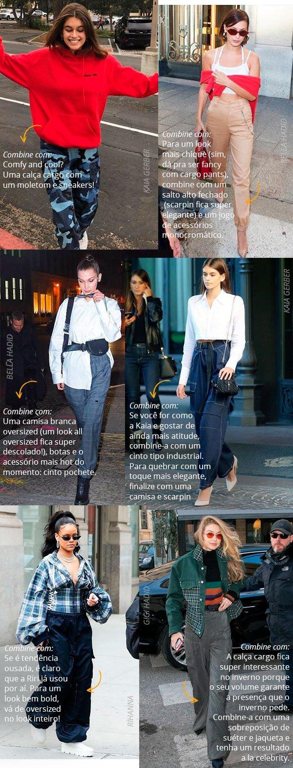 cargo pants - look - celebs - street style - 2018