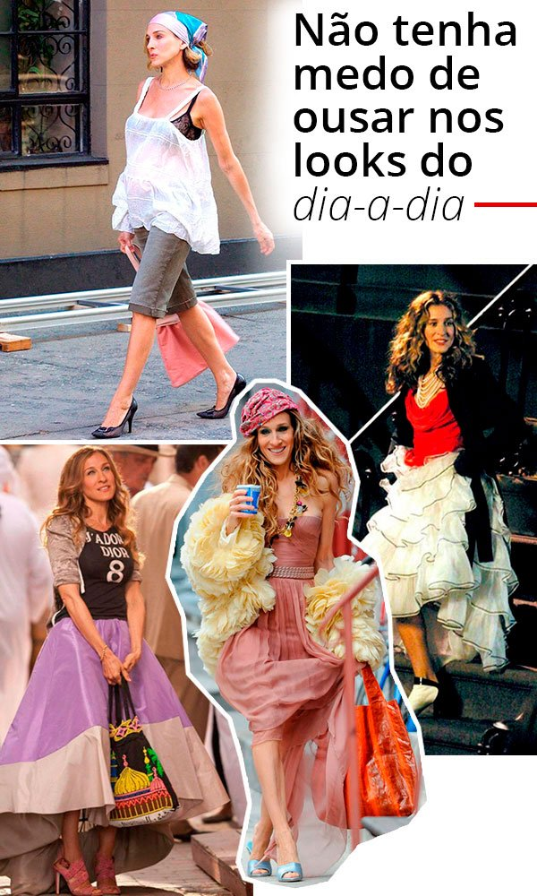 carrie bradshaw - personagem - serie - sex and the city - looks