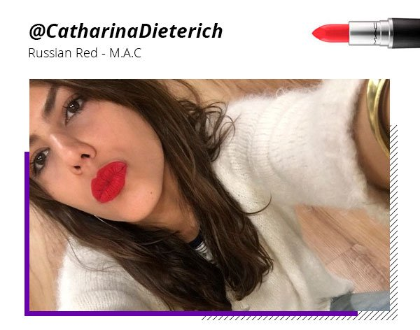 Catharina Dieterich - batom - vermelho - cor - look stealer
