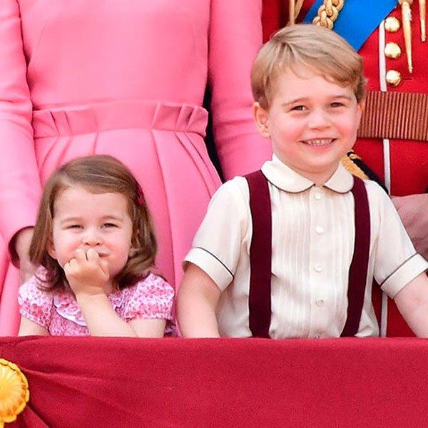 Charlotte e George - família real - família real - família real - evento