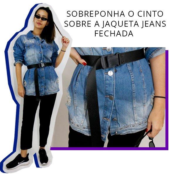 samara tavares - cinto - jaqueta jeans - look - como usar