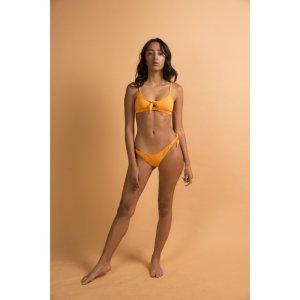 Calcinha Camille Damasco Tamanho: P - Cor: Amarelo