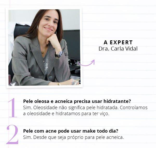 Carla Vidal - perguntas - acne - duvidas - pele