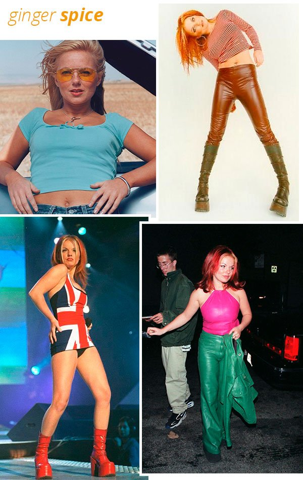 ginger spice - estilo - looks - anos 90 - spice girls