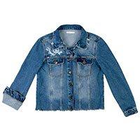 Jaqueta Jeans Estampada Especial Dia Das Mães