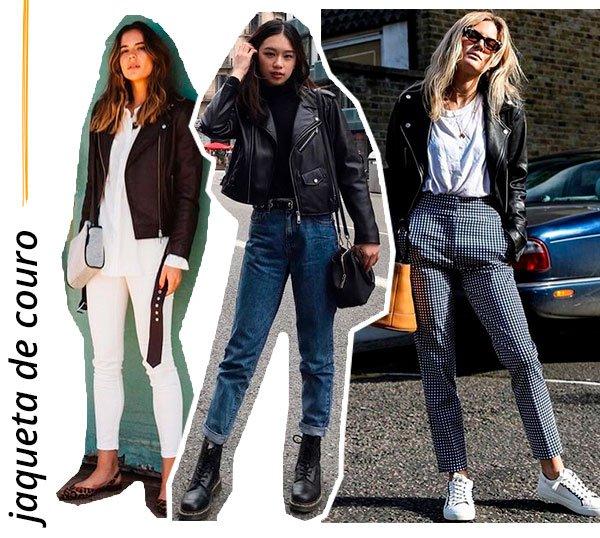 jaqueta - couro - looks - como usar - trend