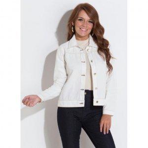 Jaqueta Jeans Claro Com Botões Quintess