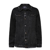 Black Destroyed Women's Jacket