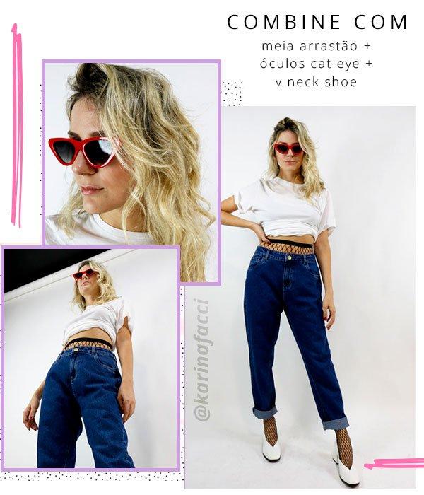 karina - look - jeans - tshirt - fishnet