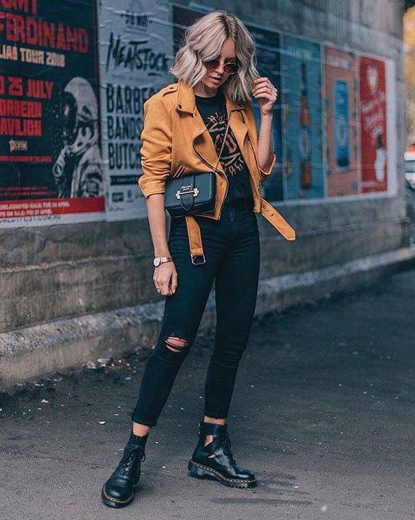 20b351158 Lian Galliard - calça-preta-jaqueta-caramelo - calça-preta - inverno