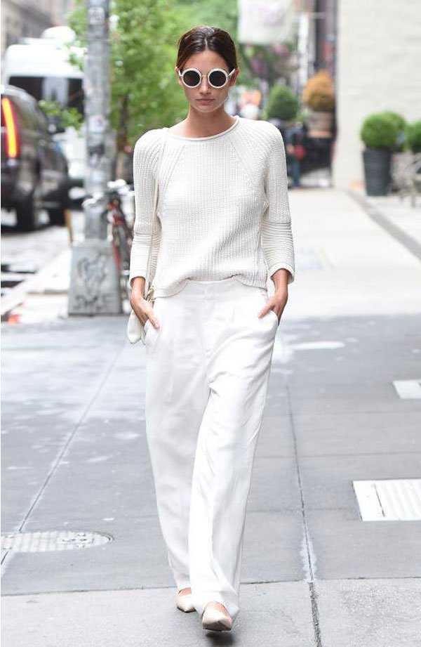 it girl - look-all-white - monocromático - meia estação - street style