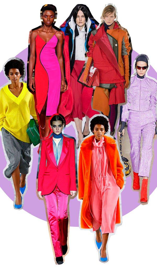 looks - color - passarela - tendencia - mono