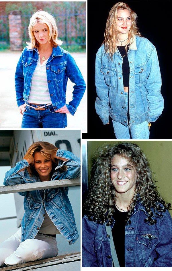 looks - jeans - celebs - anos 90 - jaqueta