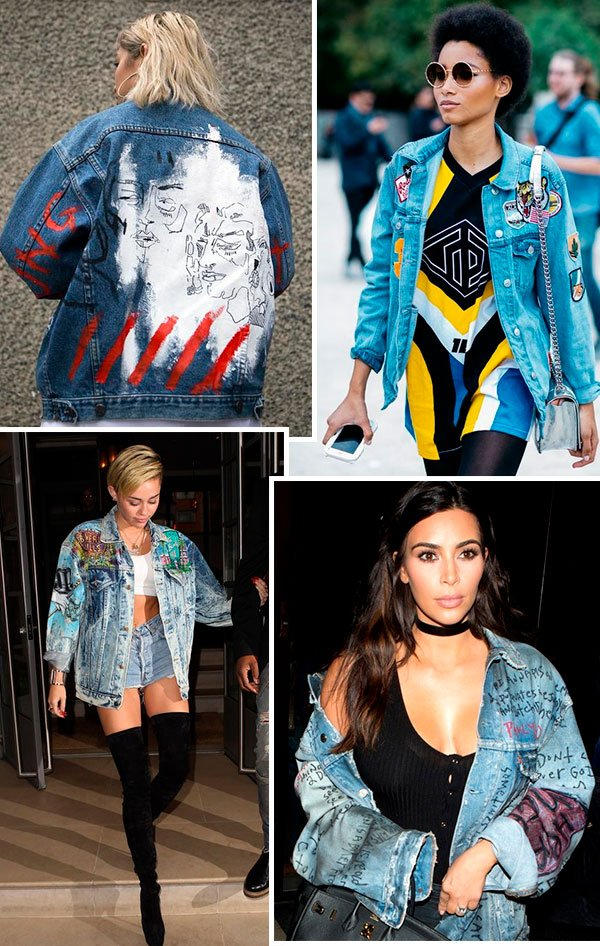 jaqueta - jeans - customizada - looks - jeans