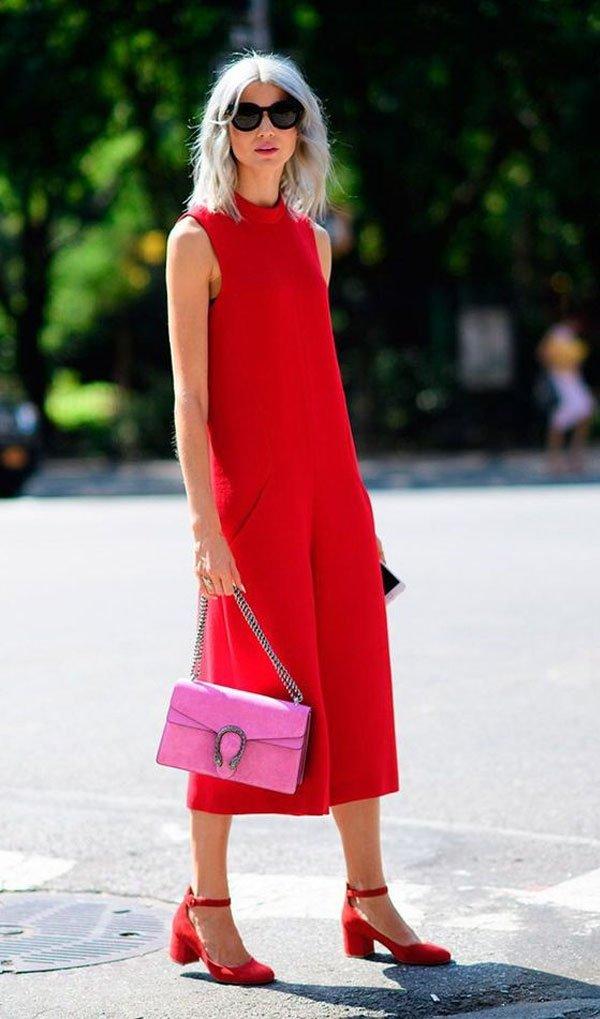it-girl - macacão-vermelho-scarpin - sapato-vermelho - verão - street style