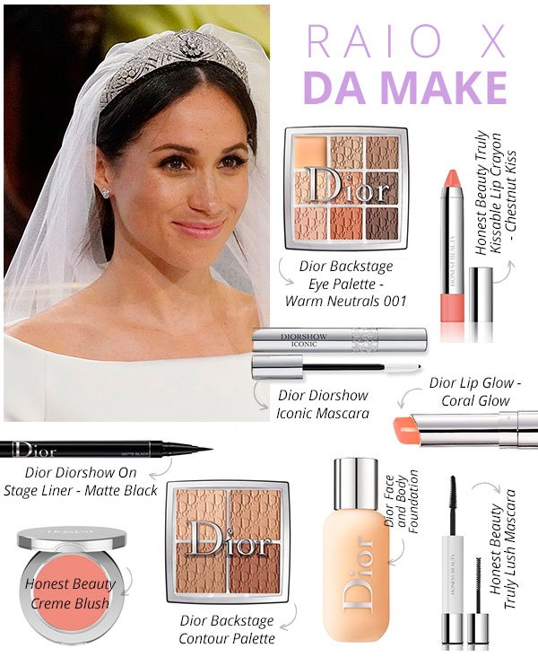 make - meghan markle - dior - casamento - real