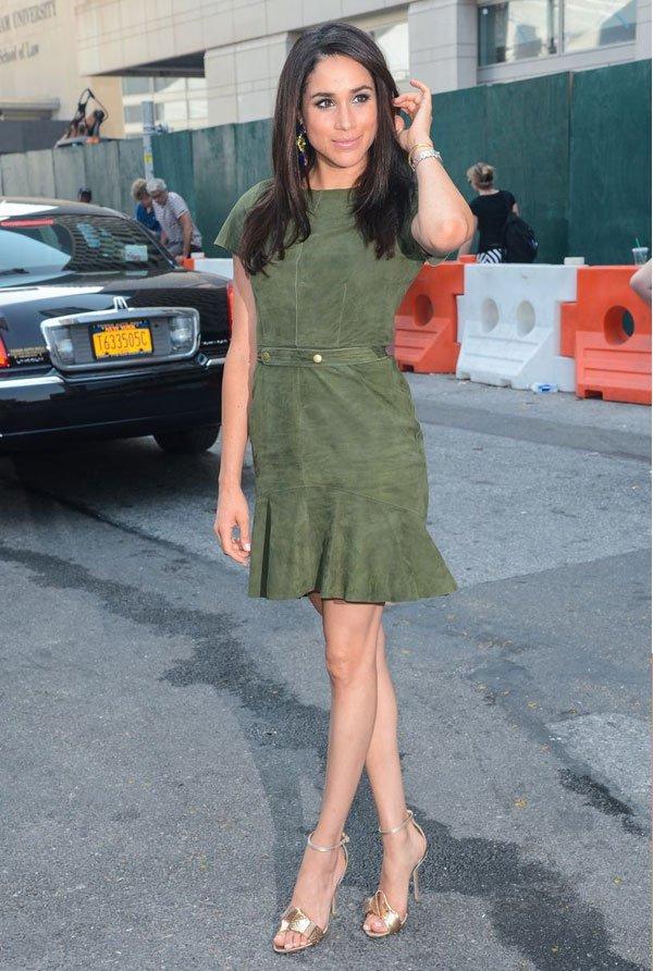 Meghan Markle  - vestido-verde - verde-oliva - verão - street style
