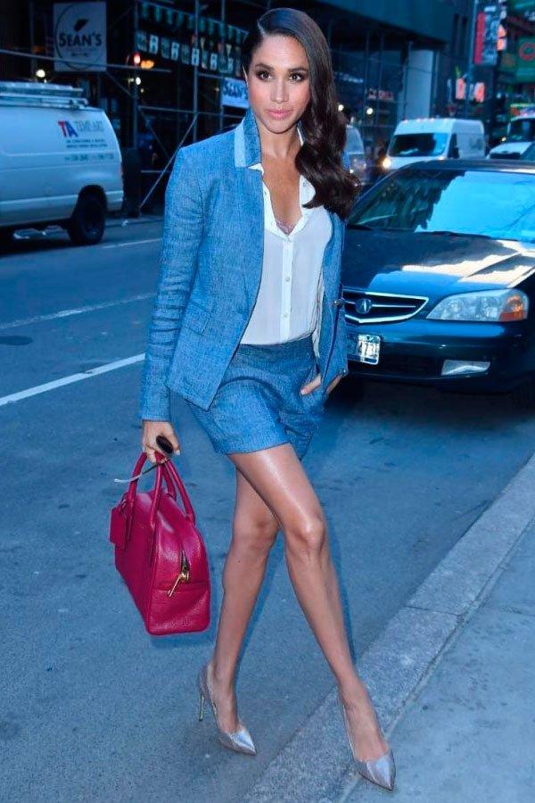 Meghan Markle - blazer-short-alfaiataria-scarpin - scarpin - verão - street style