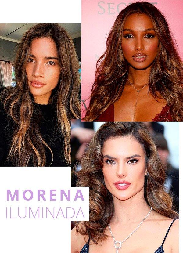 morena - iluminada - look - trend - cabelos