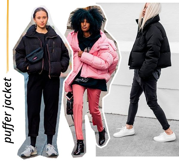 puffer - jacket - looks - como usar - inverno