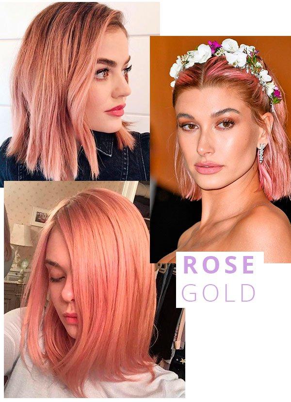 rose gold - cabelo - trend - cor - verao