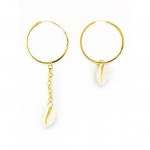 Argola Maxi Chain Coquillage Tamanho: U - Cor: Dourado