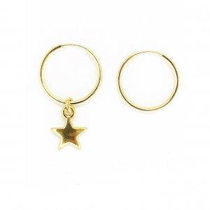Argola Mini Star Tamanho: U - Cor: Dourado