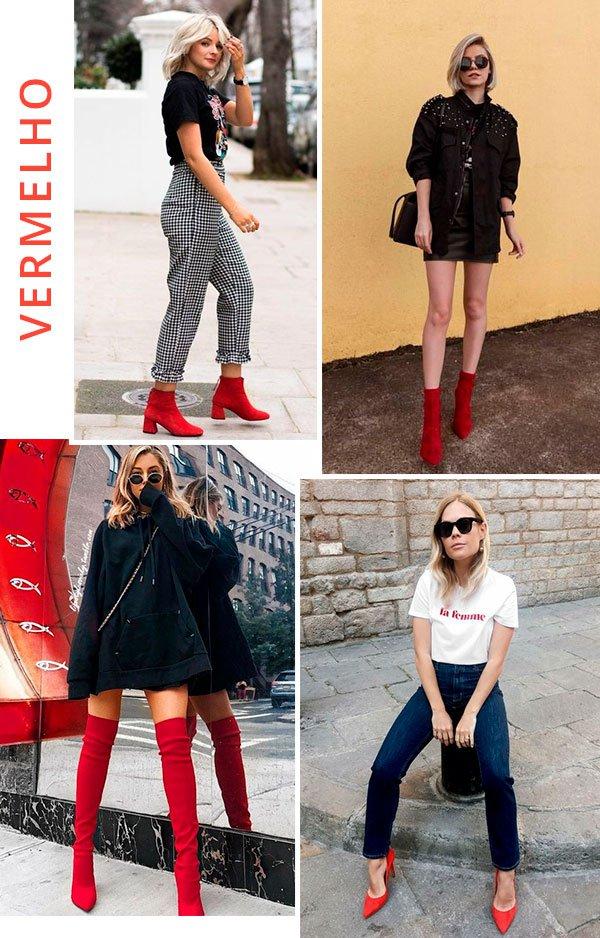 SAPATO - vermelho - looks - trend - como usar