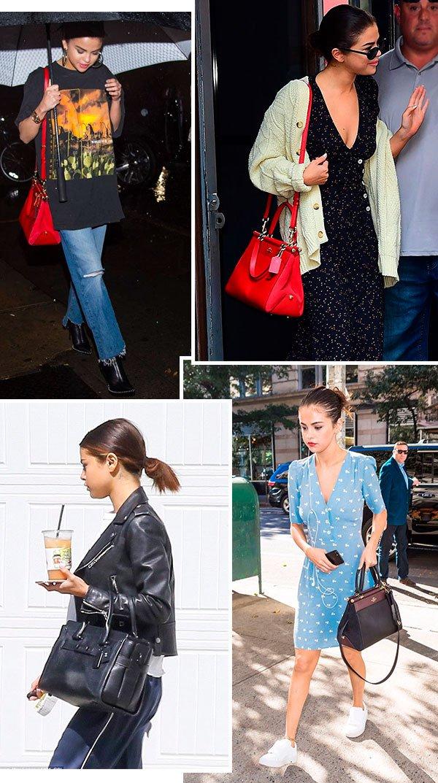 Selena Gomez - bolsa - coach - comprar - looks