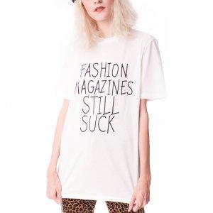 Camiseta Fashion Mag Off-White Tamanho: P - Cor: Off White